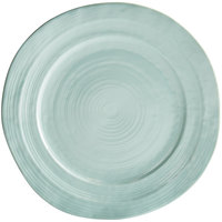 Elite Global Solutions D101 Della Terra 10 inch Mint Green Irregular Round Melamine Plate - 6/Case