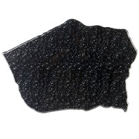 Elite Global Solutions QS2316 Fo Granite Black Granite 23 inch x 16 inch Irregular Shape Display Stone Platter