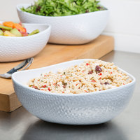 GET CS-1090-CN-W Coralline 3 Qt. White Freestyle Triangle Melamine Bowl - 3/Case