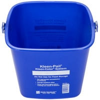 San Jamar KP196KCBL 6 Qt. Blue Cleaning Kleen-Color Pail