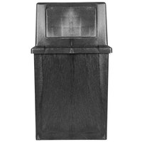 Continental 5750BK King Kan 50 Gallon Black Waste Receptacle with Hinged Lid