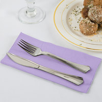 Luscious Lavender Purple Paper Dinner Napkins, 2-Ply 1/8 Fold - Creative Converting 67193B - 600/Case