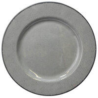 Elite Global Solutions D850M Mojave Vintage California 8 1/2 inch Gray Round Crackle Melamine Plate