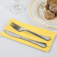 Mimosa Yellow Paper Dinner Napkins, 2-Ply 1/8 Fold - Creative Converting 67102B - 600/Case
