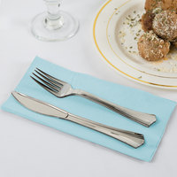Pastel Blue Paper Dinner Napkins, 2-Ply 1/8 Fold - Creative Converting 67157B - 600/Case