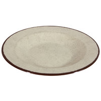 Elite Global Solutions DB878M Mojave Vintage California 12 oz. Vanilla Round Crackle Pasta / Soup Bowl - 6/Case