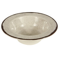 Elite Global Solutions DB6M Mojave Vintage California 10 oz. Vanilla Round Crackle Bowl - 6/Case