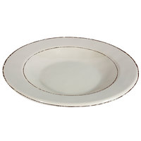 Elite Global Solutions DB878T Trestles Vintage California 12 oz. Vanilla Round Double-Line Pasta / Soup Bowl - 6/Case