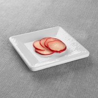 Elite Global Solutions D5SQRR Square Pebble Creek 5 inch White Square Melamine Plate - 6/Case