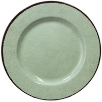 Elite Global Solutions D1025M Mojave Vintage California 10 1/2 inch Hemlock Round Crackle Melamine Plate - 6/Case