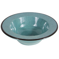 Elite Global Solutions DB6M Mojave Vintage California 10 oz. Cameo Blue Round Crackle Bowl - 6/Case