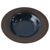 Elite Global Solutions DB82GM Durango 16 oz. Lapis & Chocolate Round Two-Tone Melamine Bowl