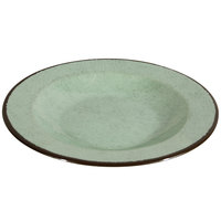 Elite Global Solutions DB10M Mojave Vintage California 18 oz. Hemlock Round Crackle Pasta / Soup Bowl - 6/Case