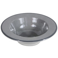 Elite Global Solutions DB6M Mojave Vintage California 10 oz. Gray Round Crackle Bowl - 6/Case