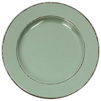 Elite Global Solutions D1025T Trestles Vintage California 10 1/2 inch Hemlock Round Double-Line Melamine Plate - 6/Case