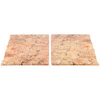 Elite Global Solutions QS2430 Rocky Mountain High Rust Granite 30 inch x 23 3/4 inch Rectangular 2-Piece Riser Platter Set