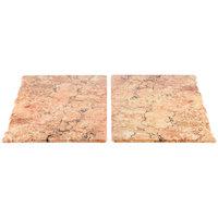 Elite Global Solutions QS2430 Fo Granite Rustic Granite 30 inch x 23 3/4 inch Rectangular 2-Piece Riser Platter Set