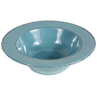 Elite Global Solutions DB6T Trestles Vintage California 10 oz. Cameo Blue Round Double-Line Bowl - 6/Case