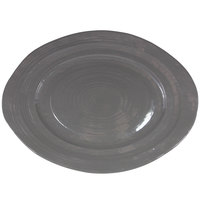 Elite Global Solutions M16512OV-G Della Terra 16 1/2 inch Gray Irregular Oval Serving Dish
