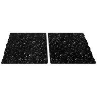 Elite Global Solutions QS2430 Rocky Mountain High Black Granite 30 inch x 23 3/4 inch Rectangular 2-Piece Riser Platter Set