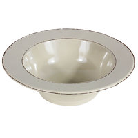 Elite Global Solutions DB6T Trestles Vintage California 10 oz. Vanilla Round Double-Line Bowl - 6/Case