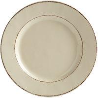 Elite Global Solutions D1025T Trestles Vintage California 10 1/2 inch Vanilla Round Double-Line Melamine Plate - 6/Case