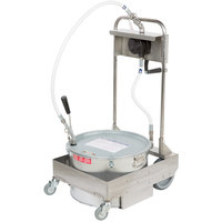 MirOil 75HD 75 lb. Fryer Oil Hand Operated 1-Way Filter Machine and Discard Trolley