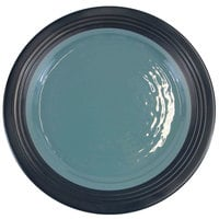 Elite Global Solutions D1098GM Durango 11 inch Abyss & Lapis Round Two-Tone Melamine Plate - 6/Case
