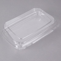 10 inch x 7 inch x 2 inch Tamper-Evident Recycled PET Angled Clear Take Out Container - 110/Case
