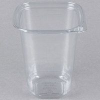 32 oz. Square Recycled PET Deli Container   - 400/Case