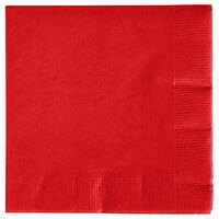 Creative Converting 571031B Classic Red 3-Ply Beverage Napkin - 500 / Case