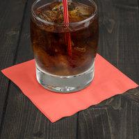 Creative Converting 573146B Coral Orange 3-Ply Beverage Napkin - 500/Case