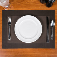 Snap Drape PMREN515 Cityscape 18 inch x 12 inch Reno Chocolate PVC Placemat - 12/Pack