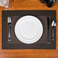 Snap Drape PMRENCHC Cityscape 12 inch x 18 inch Reno Chocolate PVC Placemat   - 12/Pack