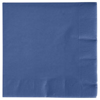 Creative Converting 571137B Navy 3-Ply Beverage Napkin - 500 / Case