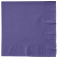 Creative Converting 57115B Purple 3-Ply Beverage Napkin - 500 / Case