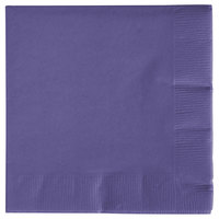 Creative Converting 57115B Purple 3-Ply Beverage Napkin - 500/Case