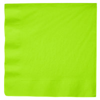 Creative Converting 593123B Fresh Lime Green 3-Ply Paper Dinner Napkin - 250/Case