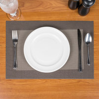 Snap Drape PMTAO006 Cityscape 18 inch x 12 inch Taos Beige PVC Placemat   - 12/Pack