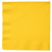 School Bus Yellow Paper Dinner Napkin, 3-Ply - Creative Converting 591021B - 250/Case