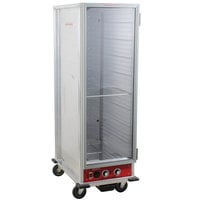 Avantco HPU-1836 Full Size Non-Insulated Heated Holding / Proofing Cabinet with Clear Door - 120V
