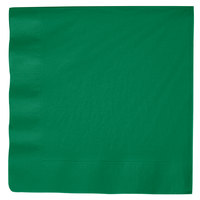 Creative Converting 59112B Emerald Green 3-Ply Paper Dinner Napkins - 250 / Case