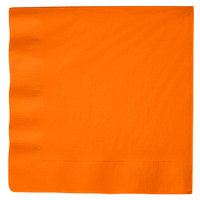 Creative Converting 59191B Sunkissed Orange 3-Ply Paper Dinner Napkin - 250 / Case