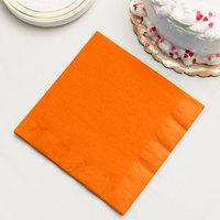 Sunkissed Orange 3-Ply Dinner Napkin, Paper - Creative Converting 59191B - 250/Case