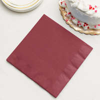 Burgundy Paper Dinner Napkins, 3-Ply - Creative Converting 593122B - 250/Case