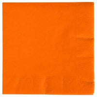 Creative Converting 57191B Sunkissed Orange 3-Ply Beverage Napkin - 500/Case