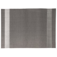 Snap Drape PMMANSIL Cityscape 13 inch x 18 inch Manhattan Silver PVC Placemat - 12 / Pack