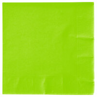 Creative Converting 573123B Fresh Lime 3-Ply Beverage Napkin - 500 / Case