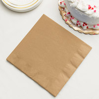 Glittering Gold 3-Ply Dinner Napkin, Paper - Creative Converting 593276B - 250/Case