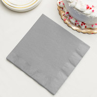 Shimmering Silver 3-Ply Dinner Napkin, Paper - Creative Converting 593281B - 250/Case